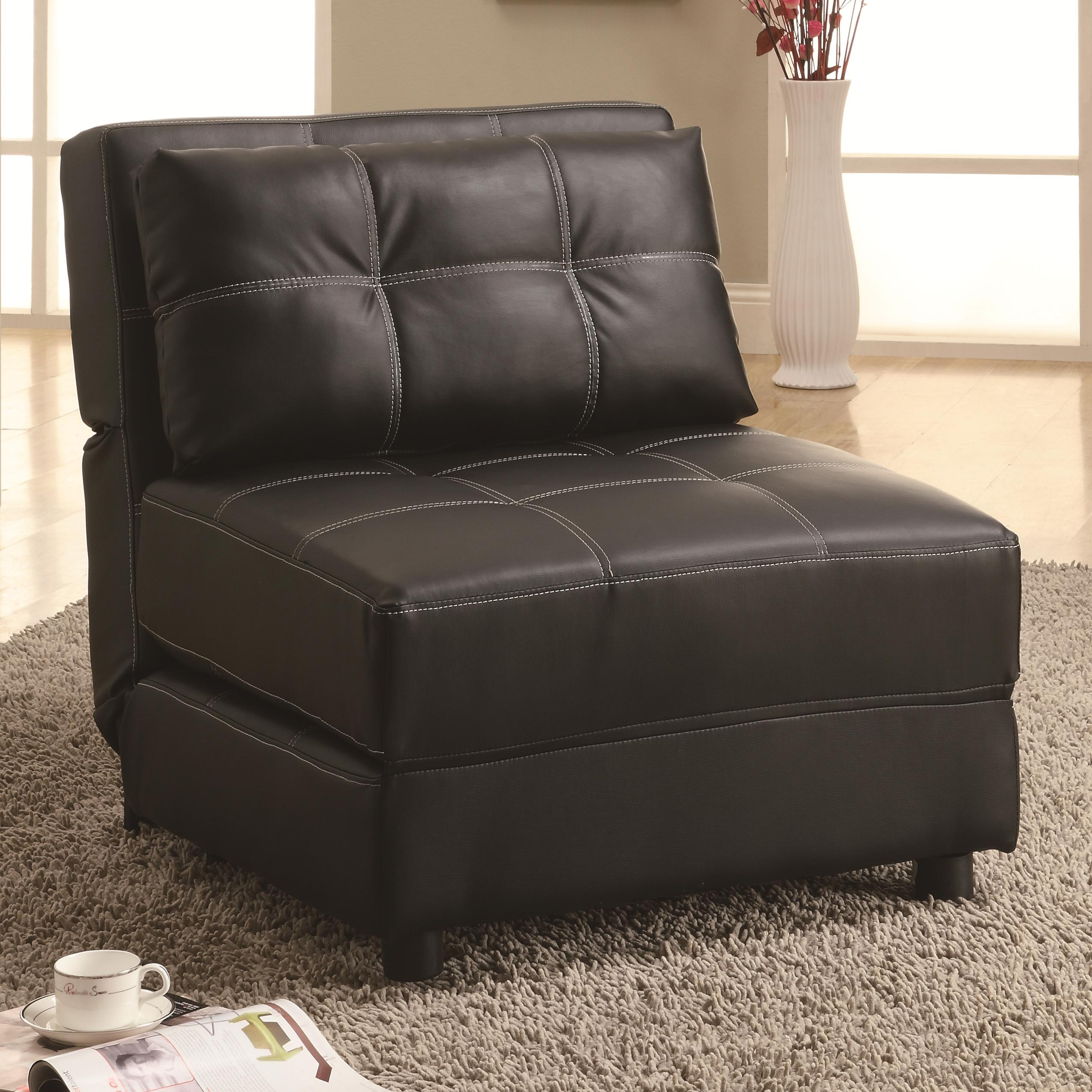 contemporary armless lounge chairsofa bed  big city futon - accent seatingb