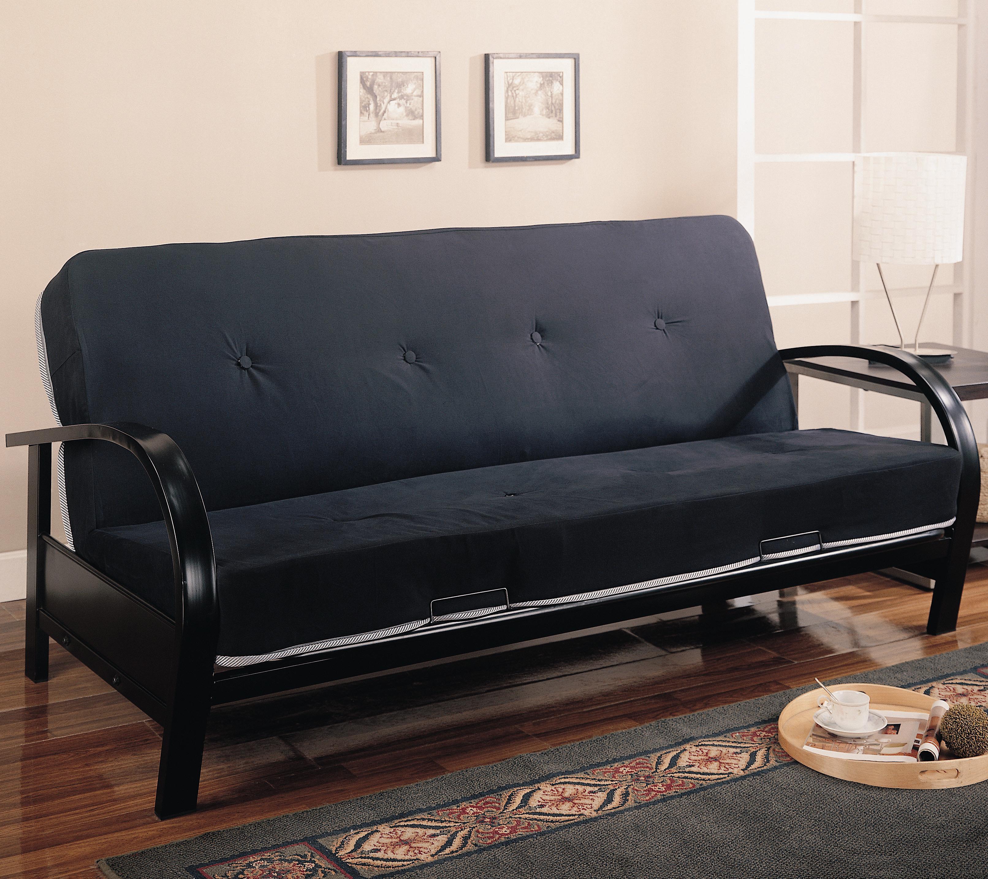 contemporary metal futon frame  big city futon - futons  coasterb