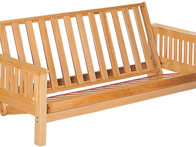 Futon Frame with Slat Side Detail