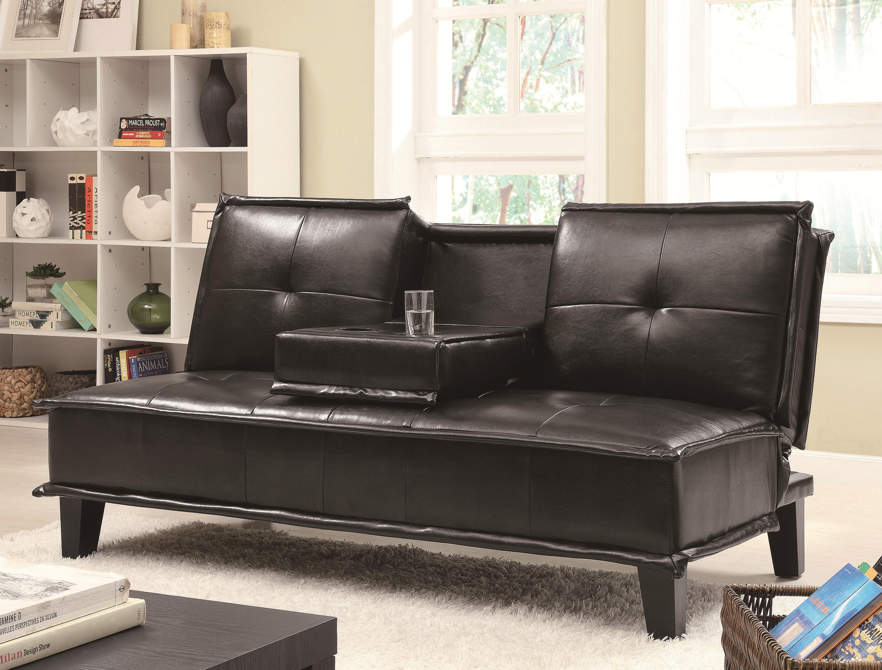 large futon piping contrast extra city shop grey white with mainstays furniture