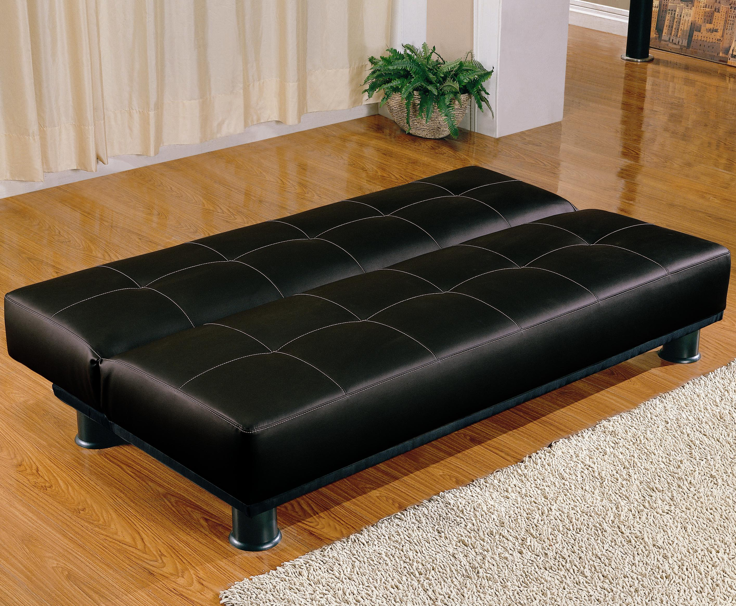 contemporary armless convertible sofa bed  big city futon - sofa bedsb