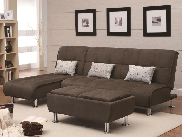 Transitional Styled Sofa Sleeper Futon Bed